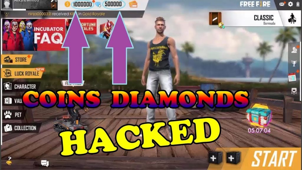 Garena Free Fire Hack Unlimited Diamonds Cheat