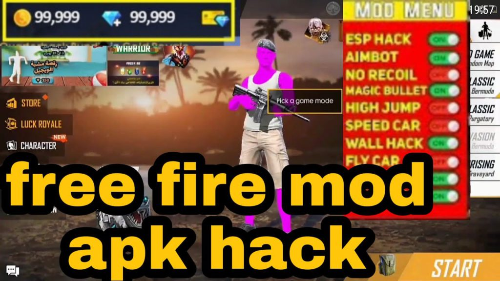 free fire mod apk unlimited diamonds